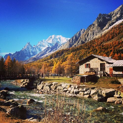 Mountain Clear Sky Nature Beauty In Nature No People Outdoors Scenics Landscape Tranquility Blue Courmayeur Valferret Valledaosta Italia Italy Autumn Autunno  Montebianco Montblanc Autumn Colors EyeEmNewHere