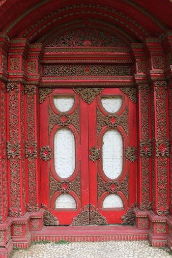Red door of temple