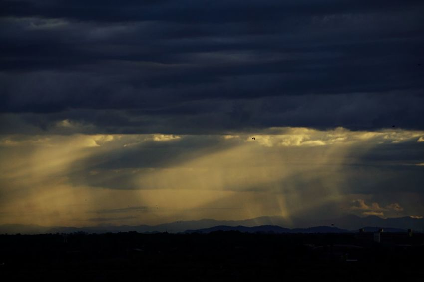Sky Cloud - Sky Nature Beauty In Nature Silhouette Dramatic Sky Weather Tranquil Scene Scenics No People Tranquility Outdoors Storm Cloud Sunset Landscape Mountain Day
