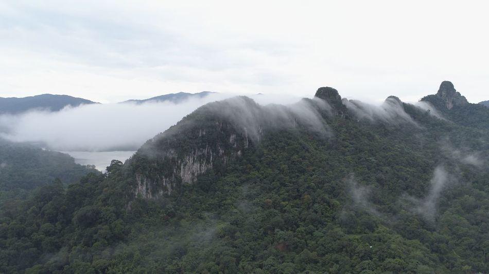 Bukit Tabur Cloud Aerial Shot Tabur Hill Bukit Tabur Beauty In Nature Fog Nature Mountain Scenics Tranquil Scene Tranquility Mountain Range Outdoors Landscape