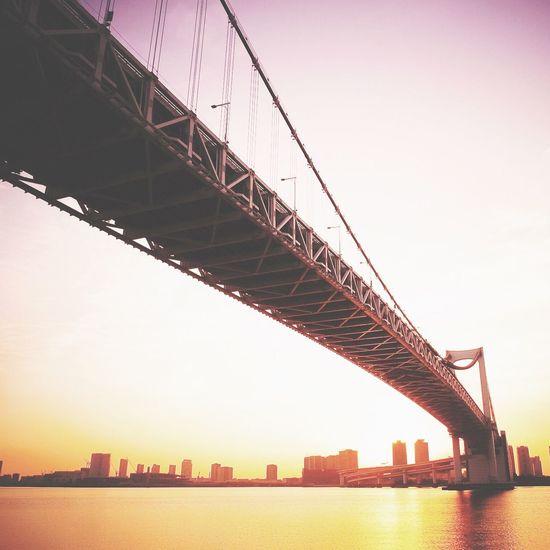 レインボーブリッジ Bridge Sunset Sunrise Morning Purple Sea EyeEm Nature Lover Shootermag EyeEm Best Edits
