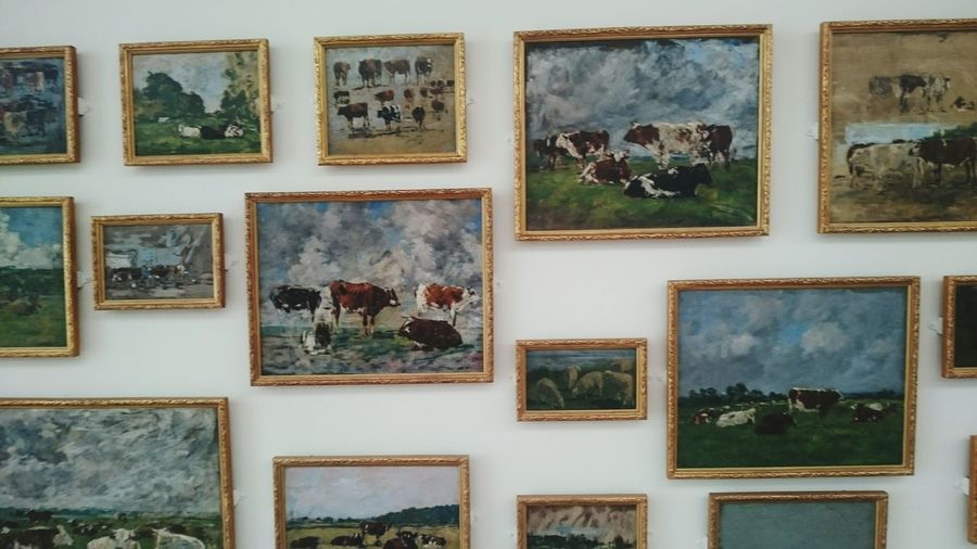 🐮 vaches cow painting MuMa le havre Le Havre Muma Photograph Backgrounds Old-fashioned Full Frame Retro Styled Rusty Variation Multi Colored Collection Picture Frame Fine Art Painting Oil Paint Painted Image Textured  Artist's Canvas
