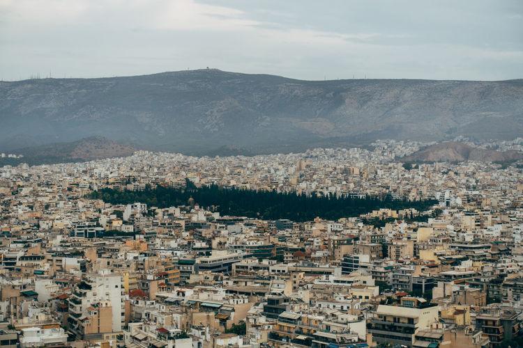 Panorama of athens, the greek capital