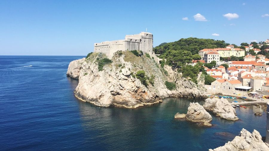 Old town and the sea Adriatic Sea Dubrovnik Croatia Fortess Travel Travel Photography Travel Destinations Summer Europe Landmarks
