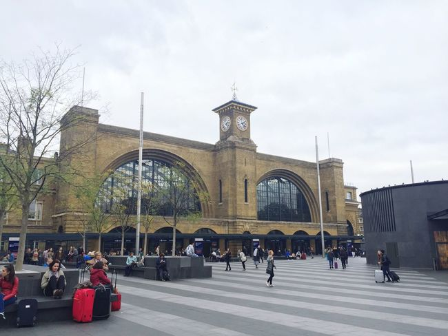 London Architecture Tourism City King's Cross, St Pancras International Built Structure Sky Travel Outdoors Lifestyles City Life