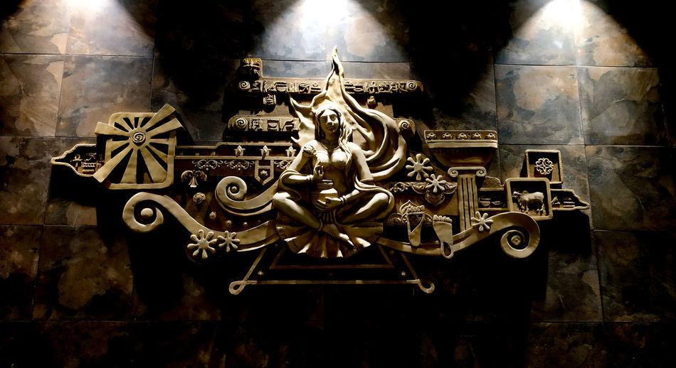 Close-up of metal sculpture