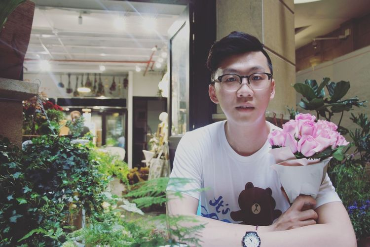 This Is Masculinity Eyeglasses  Flower Flower Shop Freshness Nature One Person People Portrait