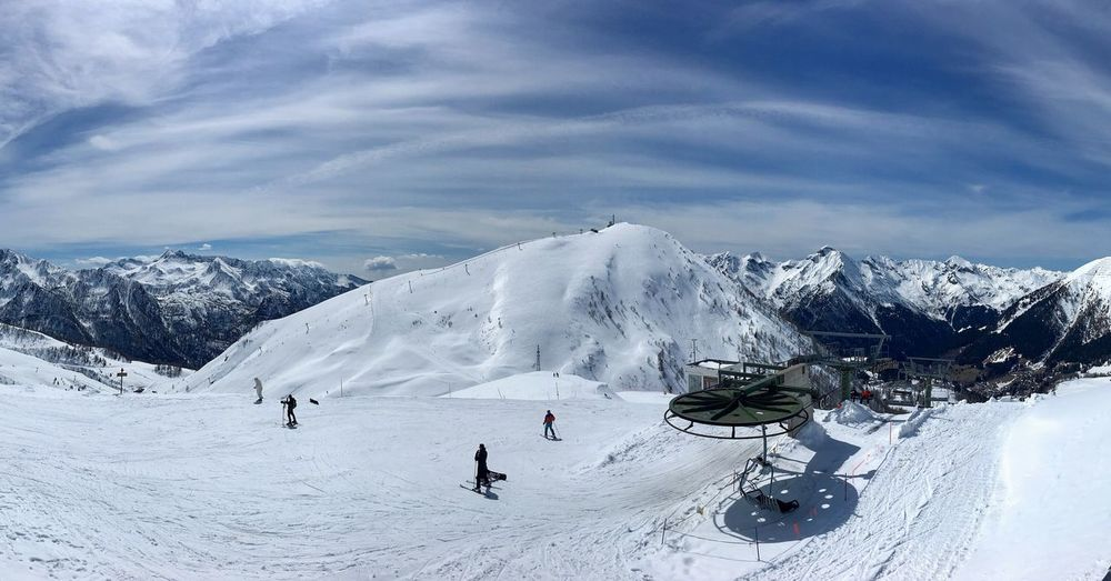 Orobie Alps Panorama Landscape Italy Alps EyeEm Selects Sky Cold Temperature Snow Cloud - Sky Beauty In Nature Winter Nature Day Mountain Vacations Sport Lifestyles Mountain Range Winter Sport Holiday Scenics - Nature