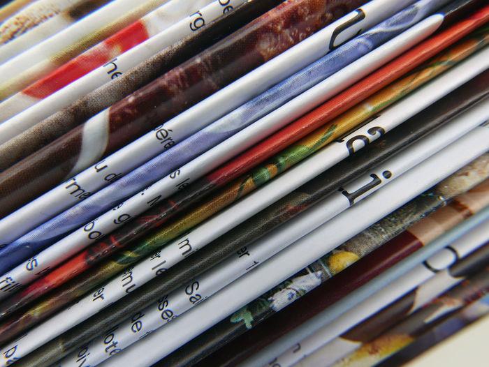 Full Frame Shot Of Magazines