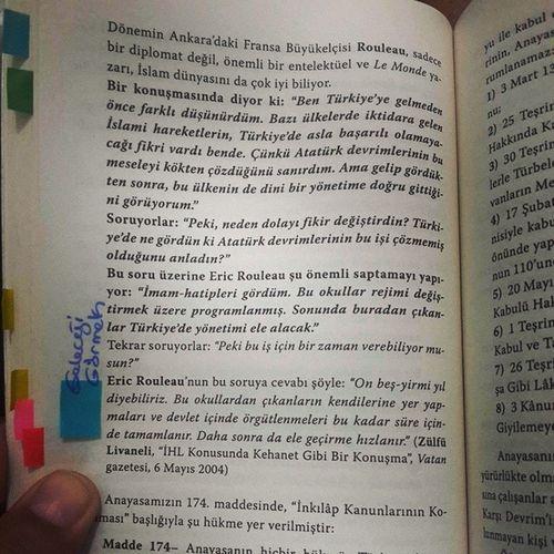 Vural Savaş - Devrimci Hukuk kitabından sayfa 142... Begenmeden önce lütfen 1 dakikanızı ayırıp dikkatle, dönemin Ankara daki Fransa büyükelçisi Rouleau Türkiye nin geleceğine dair tespitini okuyunuz.. vuralsavaş devrimcihukuk hukuk kitap book kitaptavsiye instabook bookstagram instakitap bookworm bookporn booklover kitapkurdu kitapkokusu