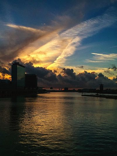 Water Amsterdam Golden Hour Clouds And Sky Sky Clouds 't IJ Sunset