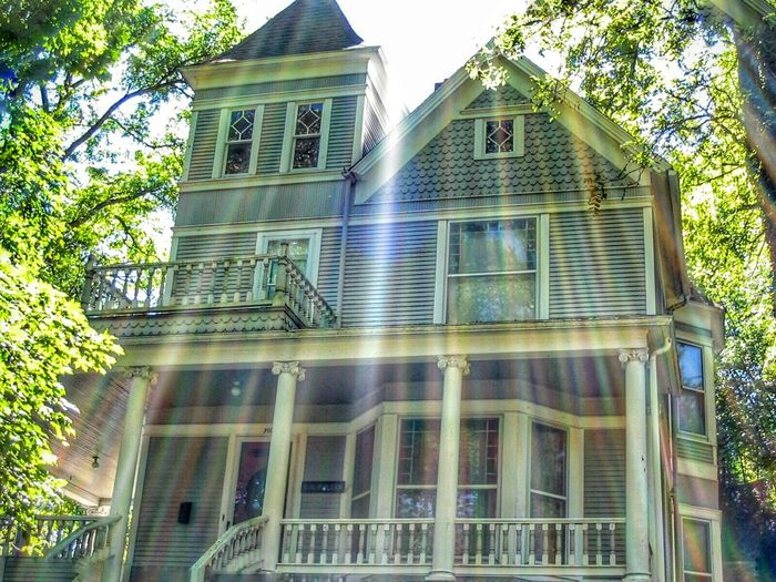 Victorian Home House Architecture Sun Rays Colorful Glitch Old Buildings Victorian Architecture Eureka Springs Arkansas History First Eyeem Photo