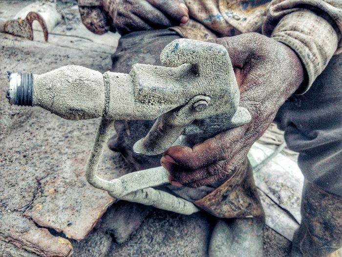 Close-up Human Representation Textured  Rough