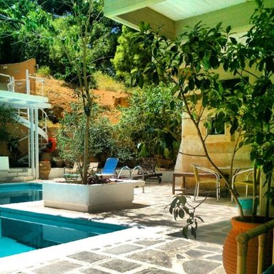 Swimming Pool Sunny Day Hotels Greek_colours Varkiza Greece Justgoshoot Taking Pictures