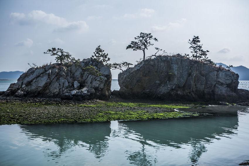 Haenam Land End Village Korea Rock Sea