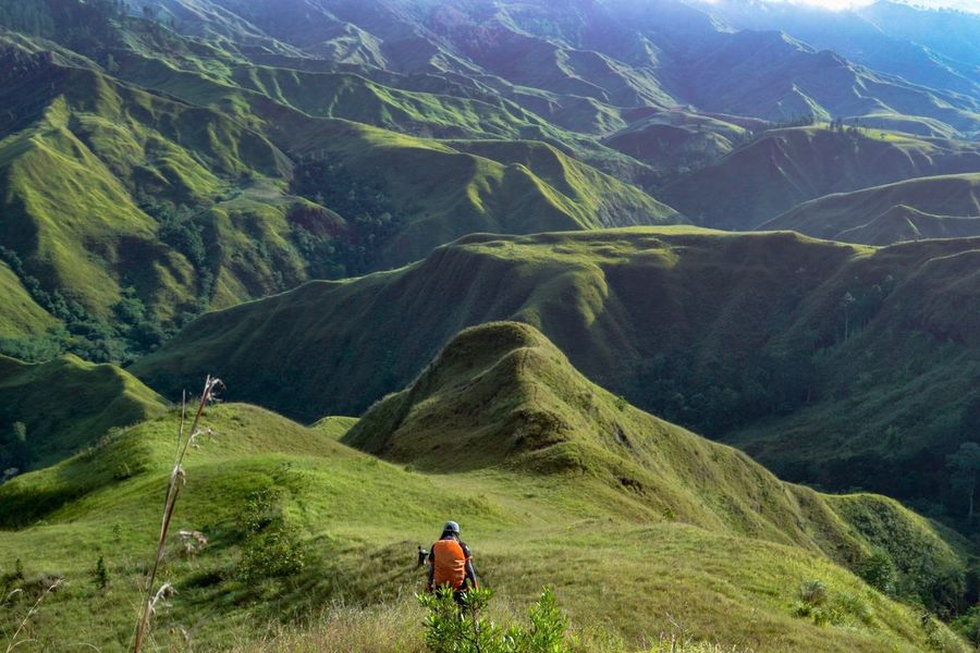 Trekking Hiking EyeEm Best Shots EyeEm Nature Lover Eyeem Philippines Mountain Scenics - Nature Beauty In Nature Landscape Environment Leisure Activity Green Color Non-urban Scene Tranquil Scene Mountain Range Real People Day Travel Lifestyles Nature Outdoors Land