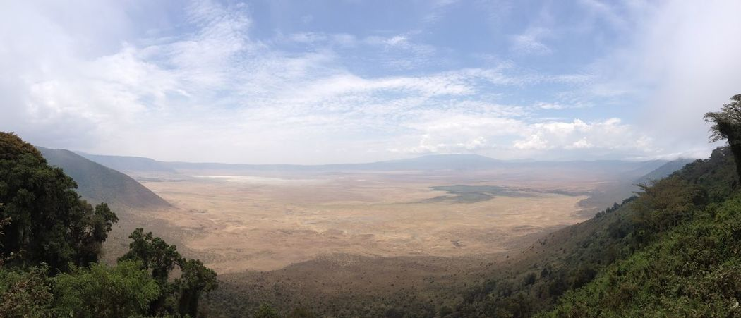 Ngorongoro Crater Panorama EyeEmNewHere Ngorongoro Crater Ngorongoro Conservation Area Tanzania Wide View Beauty In Nature Crater Idyllic Landscape No People Non Urban Outdoors Panorama View Panoramic Landscape Range Safari Tranquil Scene Untouched Nature Wilderness Area Lost In The Landscape