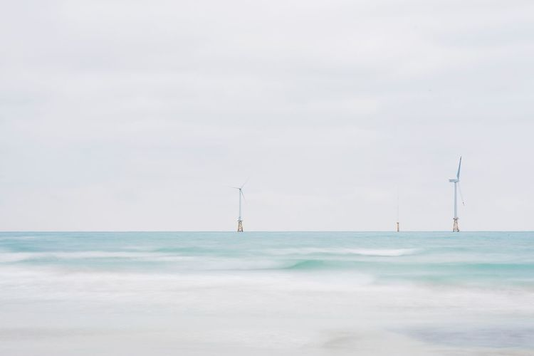 Sea Water Nature Sky Day No People Landscape Aerogenerator