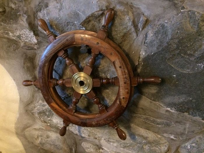 Old Ships Wheel Wooden Steering Steering Wheel Ship Ships Ship No People Transportation Old Close-up Rusty Wheel Metal Wood - Material