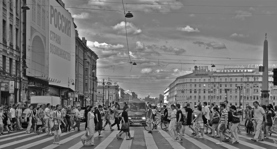 The meeting of strange Piazza Navona Russia Adult Architecture Black And White Building Exterior Built Structure City Crowd Day Large Group Of People Men Outdoors People Real People Road Russian Girl Sky Street Women