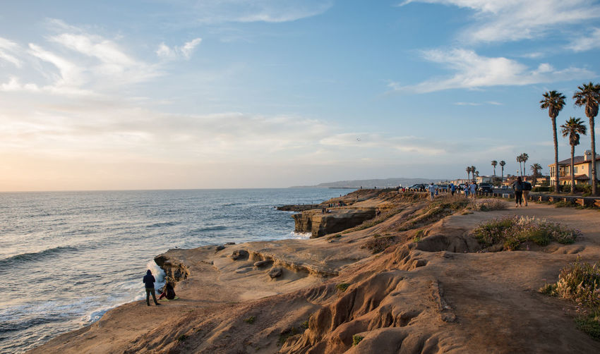 Sunset at Sunset Cliffs, San Diego #SanDiego #sunset #sun #clouds #skylovers #skyporn #sky #beautiful #sunset #clouds And Sky #beach #sun _collection #sunst And Clouds #sunsetcliffs Beach Beauty In Nature Horizon Over Water Nature Real People Scenics Sea Sky Tranquil Scene Vacations Water