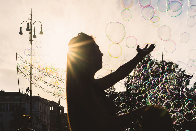 Lens Flare Sky Sunlight No People Built Structure Nature Silhouette Architecture Building Exterior Sun Low Angle View Outdoors Pattern Sunset Day Sunbeam Bubble Close-up Floral Pattern