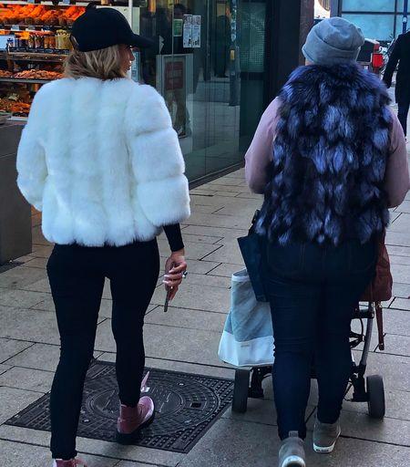 Russian Fashion Style Adult Woman Russian Woman City Walking Women Hamburg City