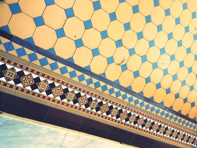 Patio de las palmeras 🌴. Casa Rosada Pattern Built Structure Architecture No People Building Exterior Outdoors Design Geometric Shape Tiled Floor Shape Decoration