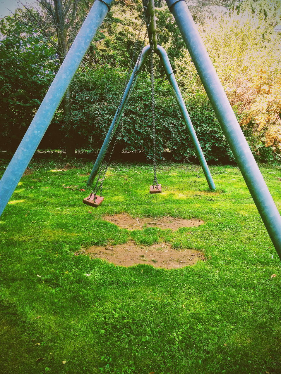 View Of Swing In Park