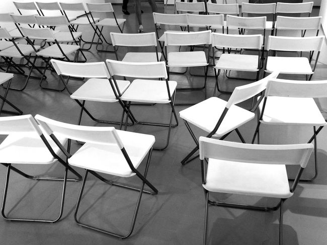 A Night Out.. Chairs Perspective Chairs Black And White The end of the show