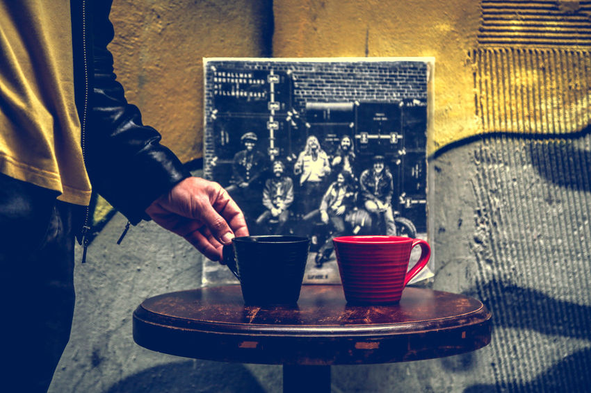 Coffee and Vinyls Coffee Human Hand Human Body Part People One Person Outdoors Day Vinyl Vinyl Records Vinylcollector Vinyls Coffee Time Coffee Cup Coffee Break Music Musician Istanbul AllmanBrothers Street Street Photography Eye4photography  Streetphotography Record Vinylrecords