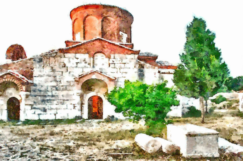 Apollonia orthodox monastery EyeEm Best Shots EyeEm Gallery Monastery Orthodox Church Ruins Trees Abandoned Ancient Ancient Civilization Architecture Art Bad Condition Building Exterior Built Structure Damaged History No People Old Old Ruin Orthodox Outdoors Run-down The Past Watercolor Weathered