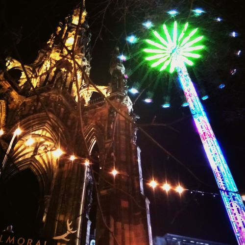 Edinburgh Scots Monument New Year Night Arts Culture And Entertainment Illuminated Celebration Event