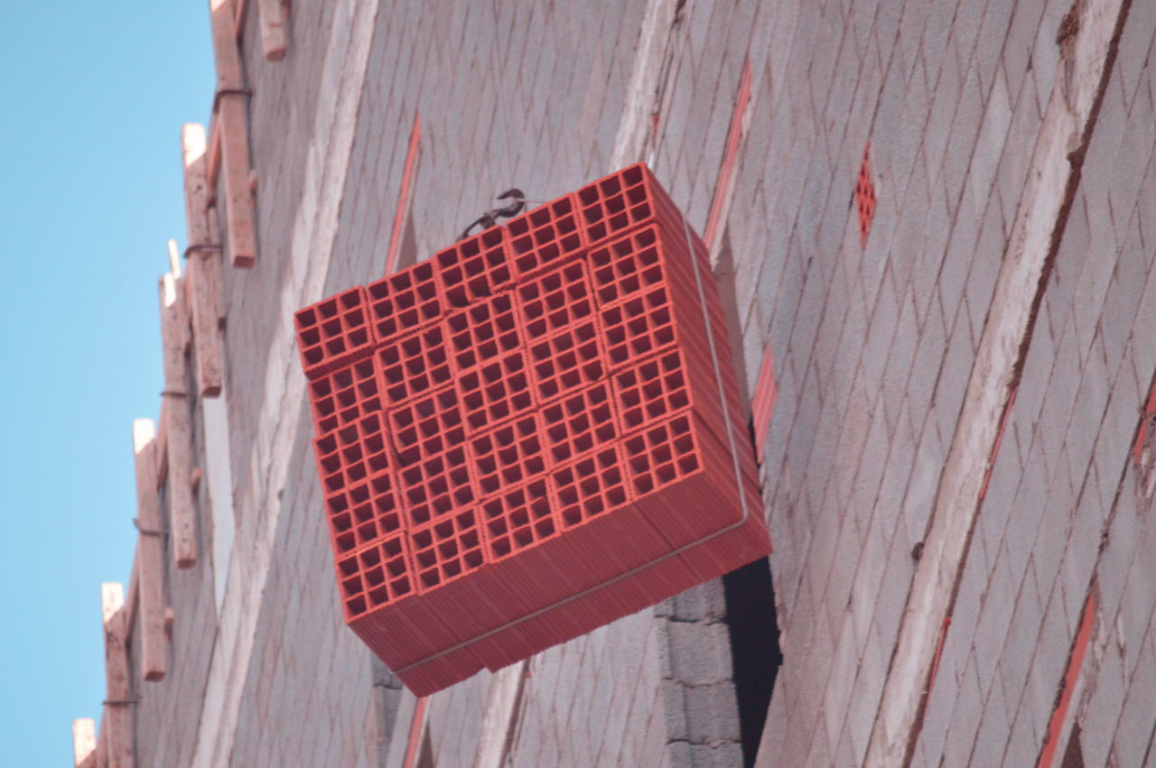 architecture, built structure, day, outdoors, building exterior, red, no people, wood - material, close-up, sky, city