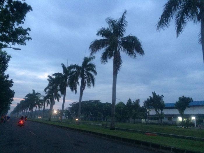 Dawn on factories district.