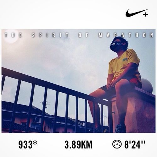 C'riosly the miracle isn't that I finished, it's that I had the courage to start..... Nikeplus NewBalance RC1400v2 Running EyeEmMy Elevationtrainingmask Self Portrait Selangor Quotes It's V