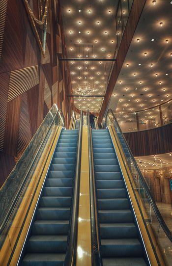 2019 Niklas Storm April Futuristic Illuminated Modern City Technology Steps Architecture Built Structure Escalator Hand Rail My Best Photo