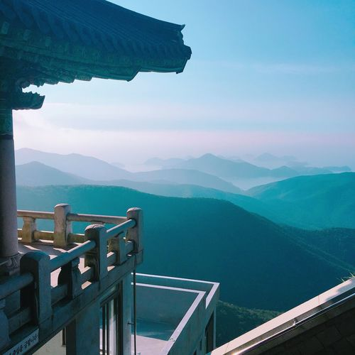 Korean Temple Temple Buddha Temple Namhae South Korea High Mountain Treking