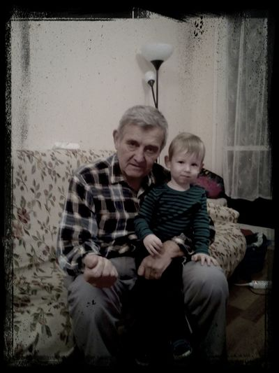 My dad with your grandson.
