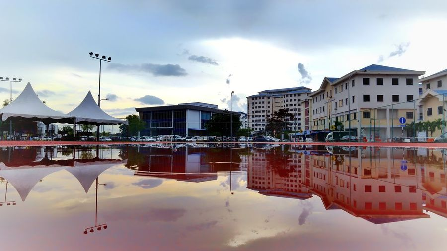 Heaven and earth reflection Water Reflection Heaven Earth Landscape Unique Water Cityscape City Reflection Sky Architecture Building Exterior Built Structure Cloud - Sky The Great Outdoors - 2018 EyeEm Awards EyeEmNewHere