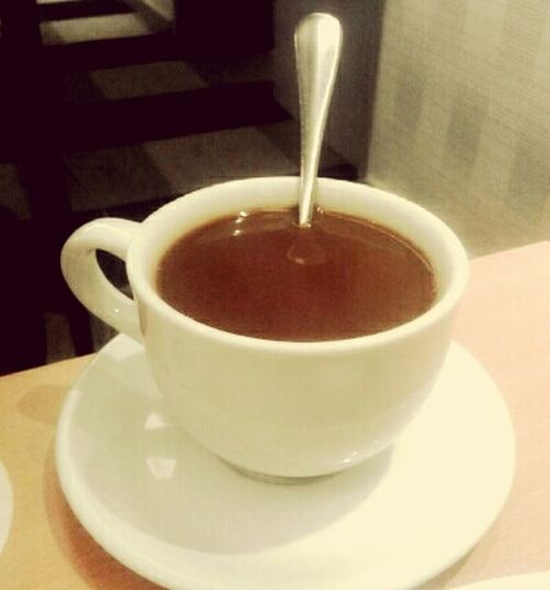 Karena kopi membuat tenang kala hidup tak memihak😊 Food And Drink Close-up Drink Indoors  Refreshment Heat - Temperature Freshness Day Saucer No People Lifestyles Smiling