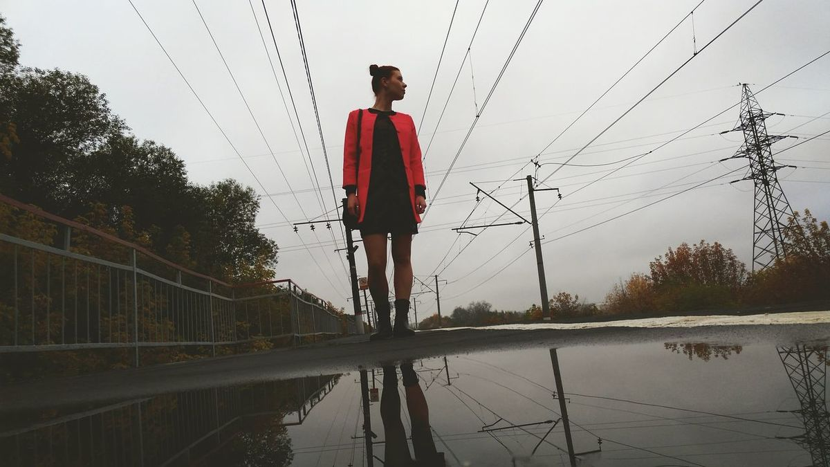 Wet Full Length Reflection Sport Water Outdoors One Person Sky One Boy Only People Day Adult