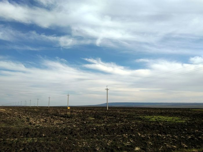 Farm Farmland Cultivated Land Wires Hills Technology Rural Scene Electricity  Fuel And Power Generation Sustainable Resources Electricity Pylon Agricultural Field Agriculture