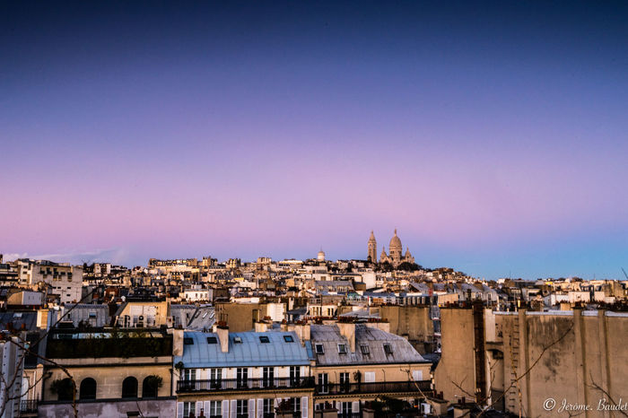 Blue Hour Montmartre Paris Paris, France  Rooftop Sacre Coeur Blue Building Exterior City Roof Sky