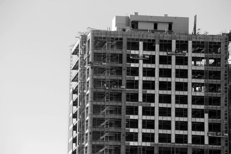 Architecture Black And White Blackandwhite Building Exterior Built Structure City Cityview Construction Site Contruction Modern Architecture Unfiltered