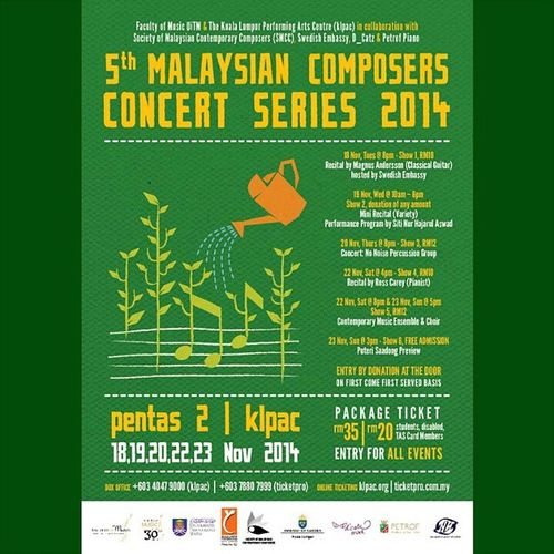 5th Malaysian Composers Series 2014. FreakOnALeash 5thComposersSeries .