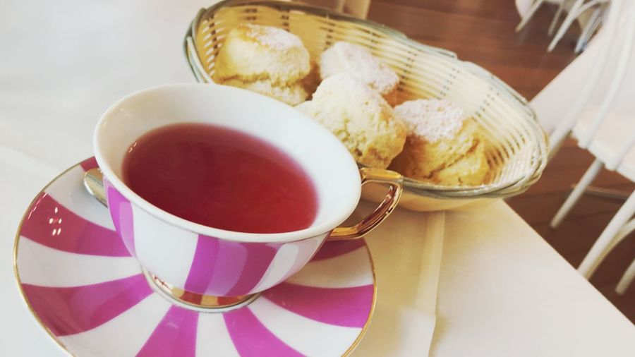 A spot of tea and scones! EyeEm Selects Food And Drink Cup Refreshment Drink Mug Freshness Table Tea Food Indoors  High Angle View Tea Cup Tea - Hot Drink Eating Utensil Spoon Kitchen Utensil Close-up No People Hot Drink Crockery