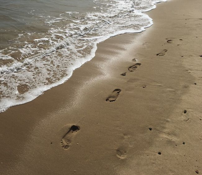 Beach FootPrint Sea Sand Water England Nature Footprints In The Sand Wave Day Calm