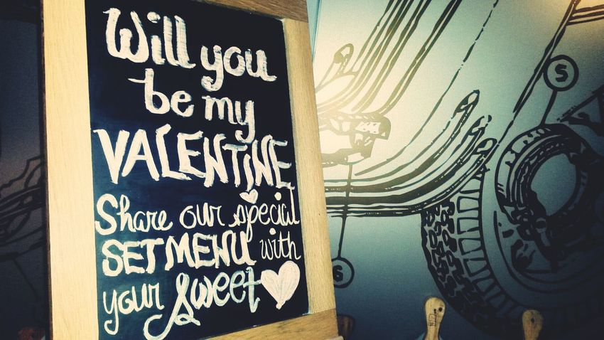 Will you be my valentine? ♥ Check This Out Pizza Hello World