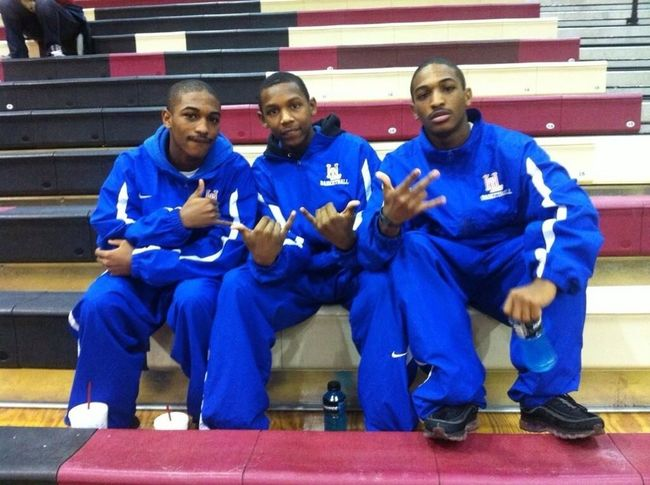 Me my twin brother and my homie peanut